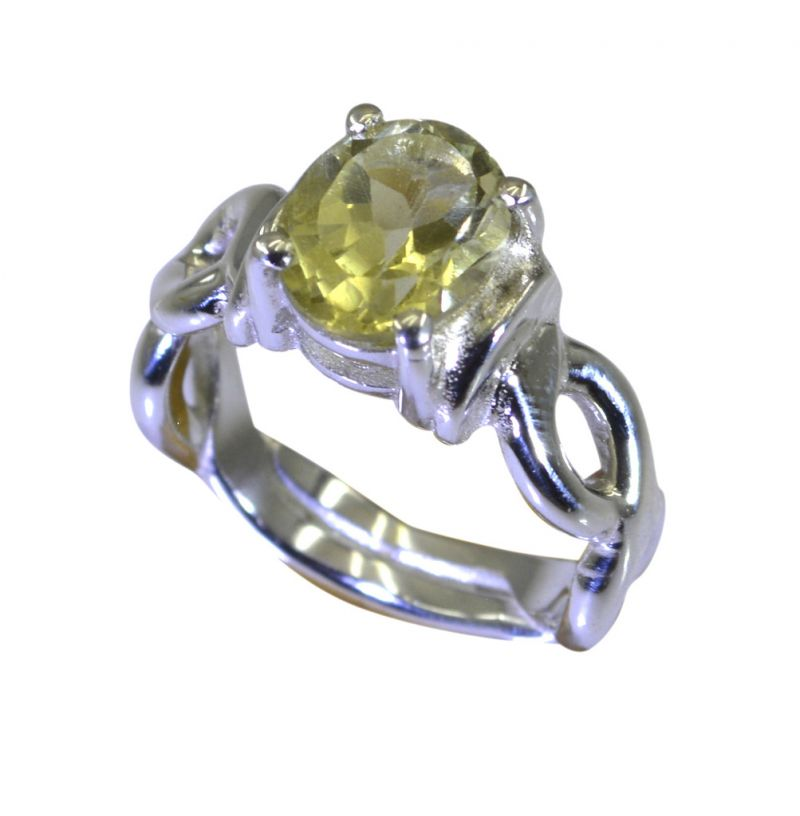 Buy Riyo A Lemon Quartz 925 Solid Sterling Silver Top Of The Line Ring Srlqu75-46030 online