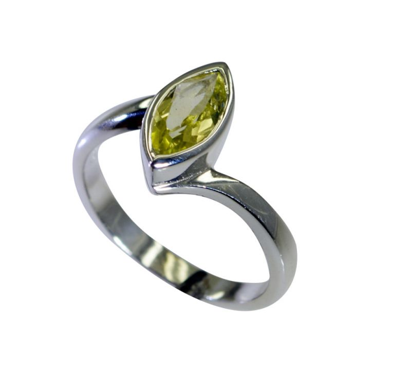 Buy Riyo Lemon Quartz Silver Daisy Jewellery Cameo Ring Sz 8 Srlqu8-46022 online