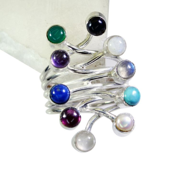 Buy Riyo Gemstone Silver Jewellery 925 Personalized Silver Ring Sz 6 Srmul6-52008 online
