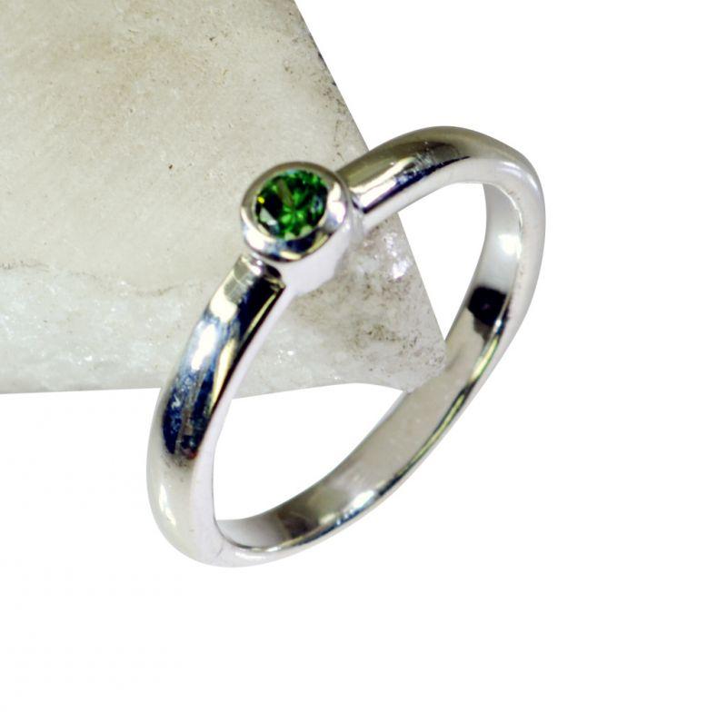 Buy Riyo Gemstone Silver Initial Jewelry Long Silver Ring Sz 6.5 Srmul6.5-52021 online