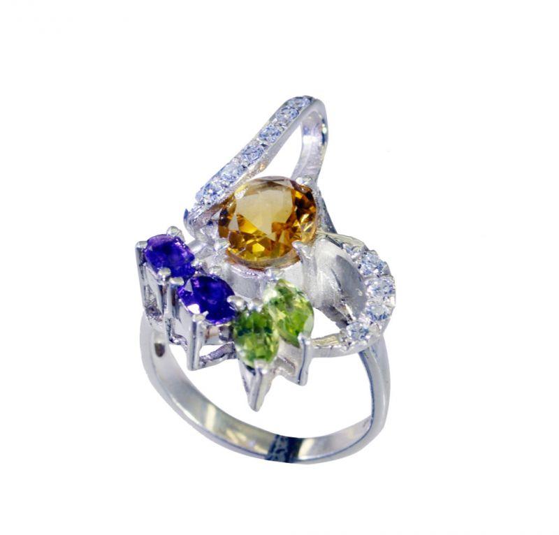 Buy Riyo Gemstone Silver Jewellery Online Silver Ring Sz 6.5 Srmul6.5-52052 online