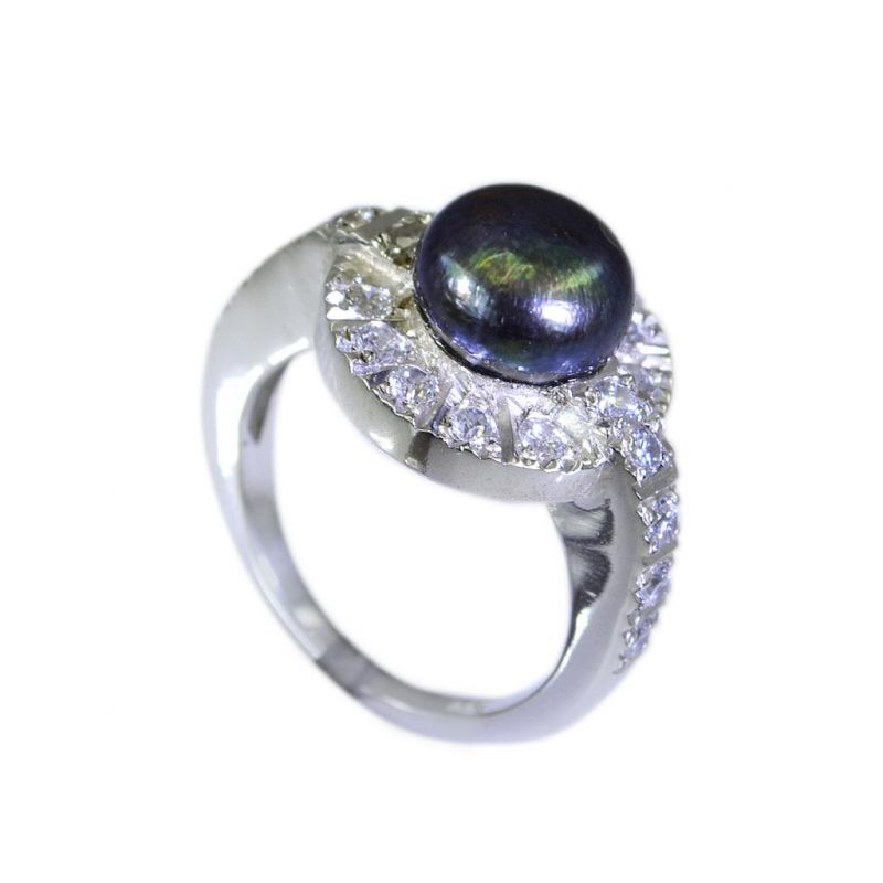 Buy Riyo Pearl Silver Jewellery Website Silver Thumb Ring Sz 5.5 Srpea5.5-56015 online