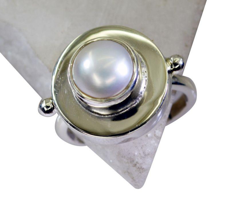 Buy Riyo Pearl Silver Jewellery Shops Silver Ring Wholesale Sz 8 Srpea8-56007 online