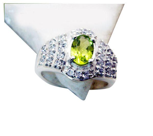 Buy Riyo Peridot Silver Jewelry Discount Gemstone Sz 6 Srper6-58023 online