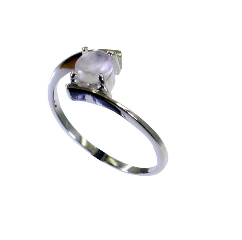 Buy Riyo Rose Quartz Silver Pendant Jewellery 925 Silver Ring Sz 8 Srroq8-68024 online