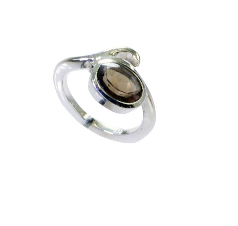 Buy Riyo Smoky Quartz Simple Silver Jewelry Design Your Own Silver Ring Sz 6 Srsqu6-76031 online