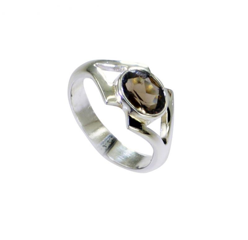 Buy Riyo Smoky Quartz Silver Wholesale Jewelry Contemporary Silver Ring Sz 6.5 Srsqu6.5-76028 online
