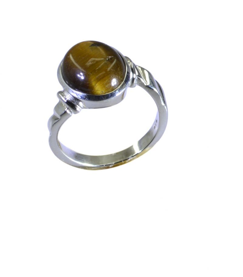 Buy Riyo Brown Tiger Eye 925 Solid Sterling Silver Certified Ring Srtey70-80009 online