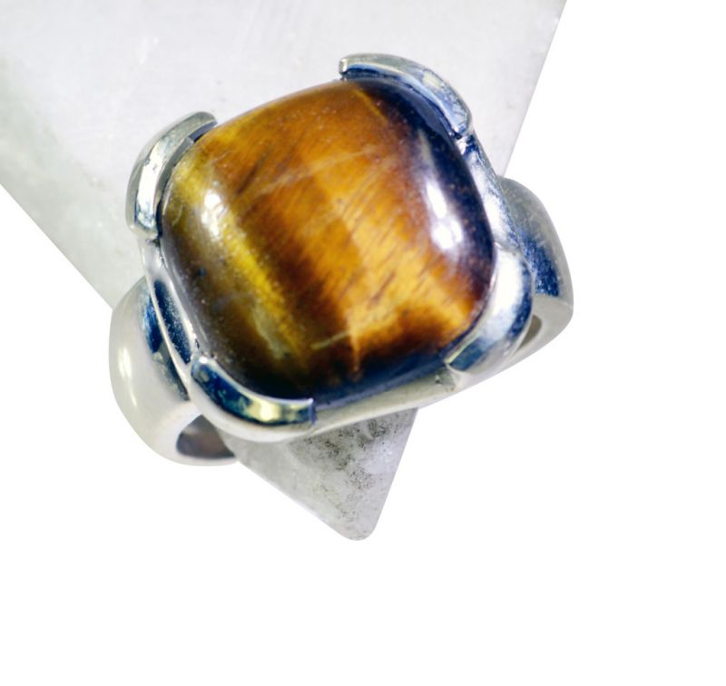 Buy Riyo Tiger Eye Trendy Silver Jewelry Silver 925 Ring Sz 8 Srtey8-80006 online