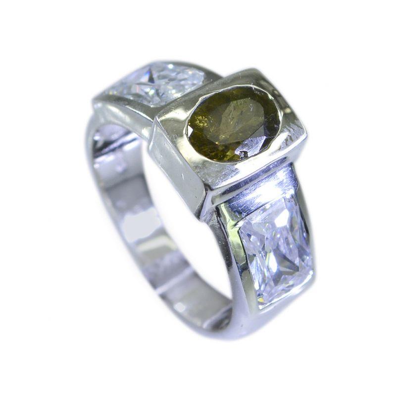 Buy Riyo Tourmaline Unique Handmade Silver Jewellery Silver Engagement Ring Sz 5 Srtou5-84003 online