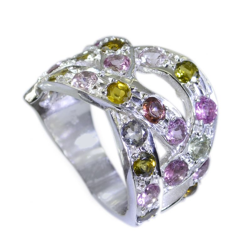 Buy Riyo Tourmaline Unique Handmade Silver Silver Engagement Ring Settings Sz 5 Srtou5-84004 online