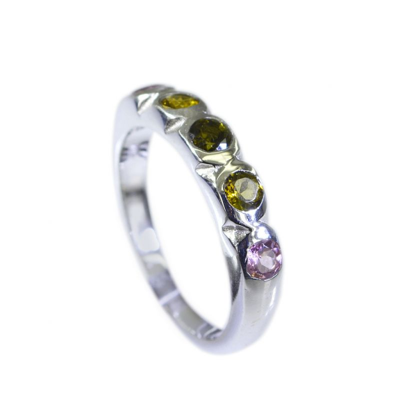 Buy Riyo Tourmaline Silver Sterling Twisted Silver Ring Sz 6 Srtou6-84047 online