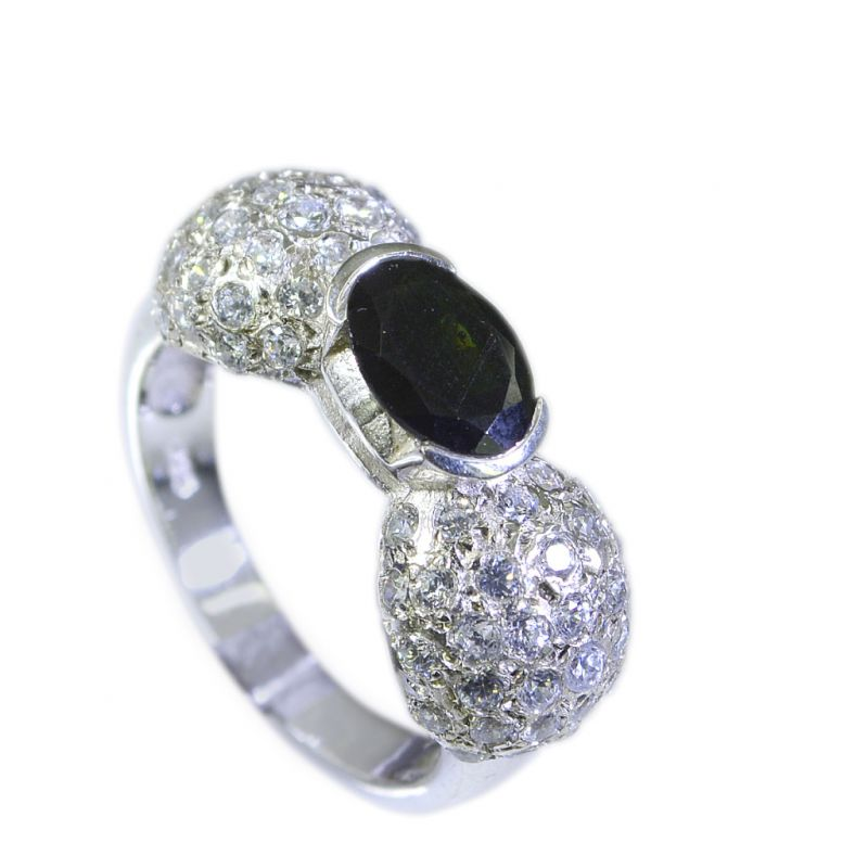 Buy Riyo Tourmaline Affordable Silver Jewelry Claddagh Ring Sz 6.5 Srtou6.5-84055 online