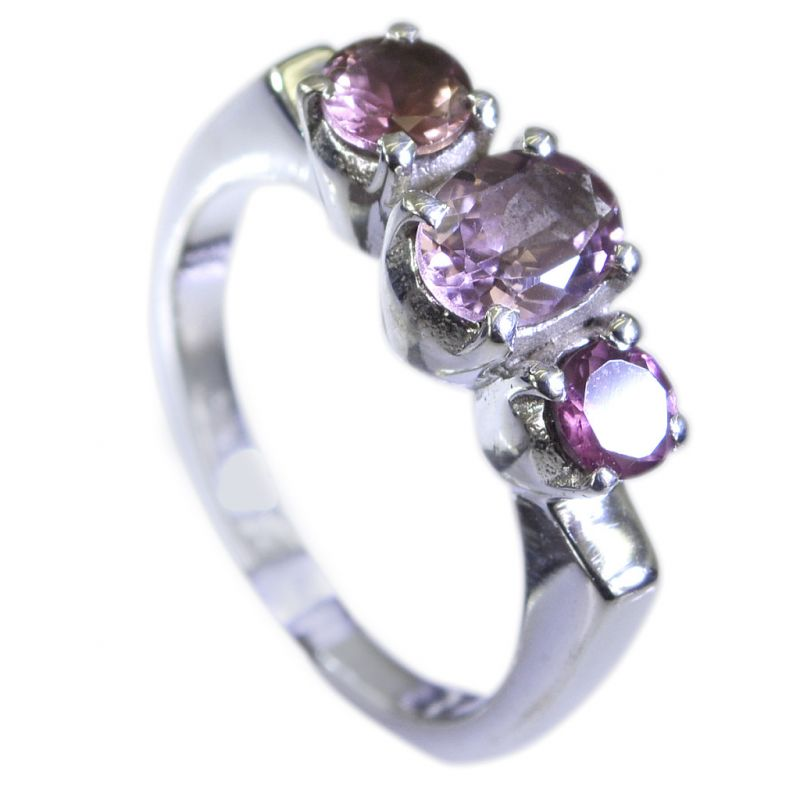 Buy Riyo Tourmaline Discount Silver Jewellery Purity Ring Jewelry Sz 7.5 Srtou7.5-84119 online