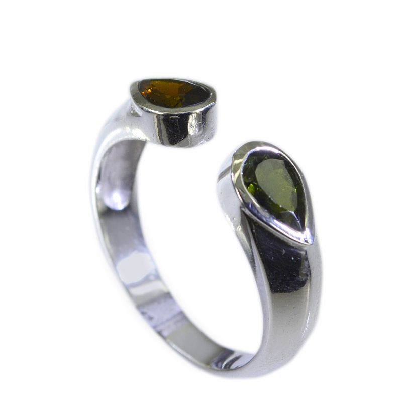 Buy Riyo Tourmaline Exotic Silver Jewelry Antique Silver Ring Sz 7.5 Srtou7.5-84130 online
