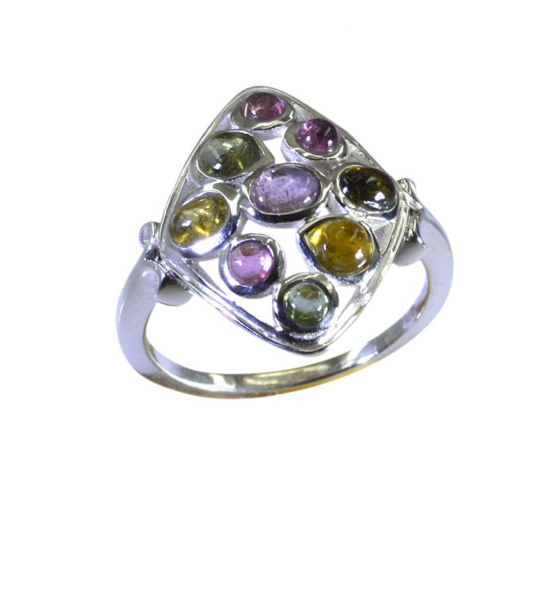 Buy Riyo Tourmaline 925 Solid Sterling Silver Costume Ring Srtou80-84147 online
