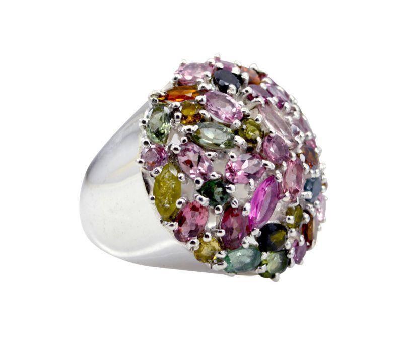 Buy Riyo Tourmaline 925 Solid Sterling Silver Crackled Ring Srtou80-84148 online