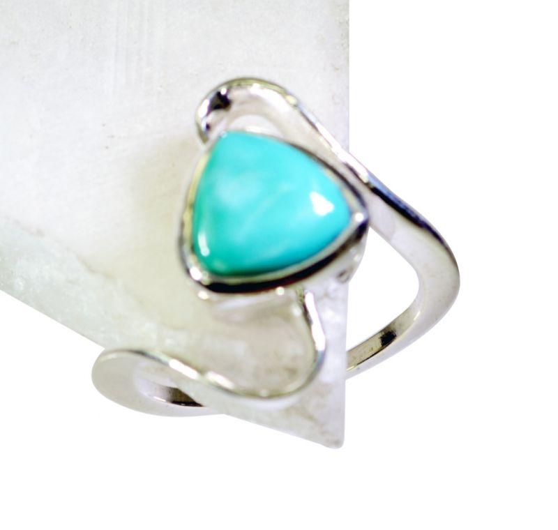 Buy Riyo Turquoise Gemstone Silver Jewelry Large Silver Ring Sz 7 Srtur7-82020 online