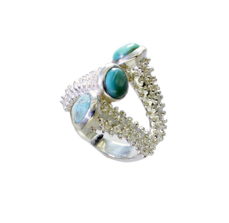 Buy Riyo Turquoise Handmade Jewelry Silver Silver Keeper Ring Sz 7 Srtur7-82037 online