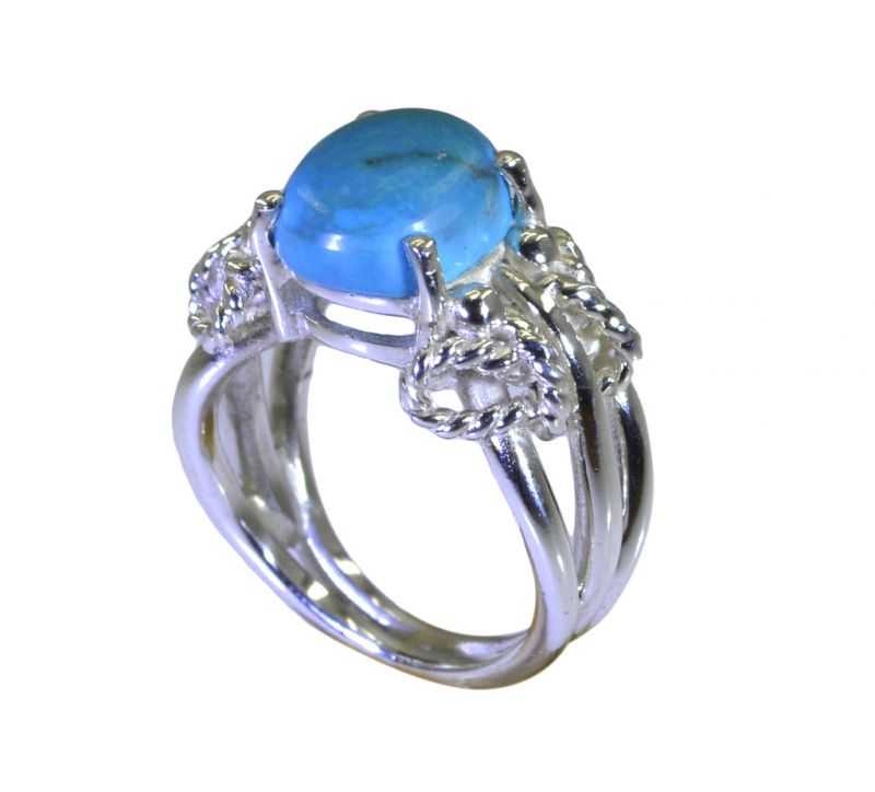 Buy Riyo A Turquoise 925 Solid Sterling Silver Decorative Ring Srtur90-82040 online