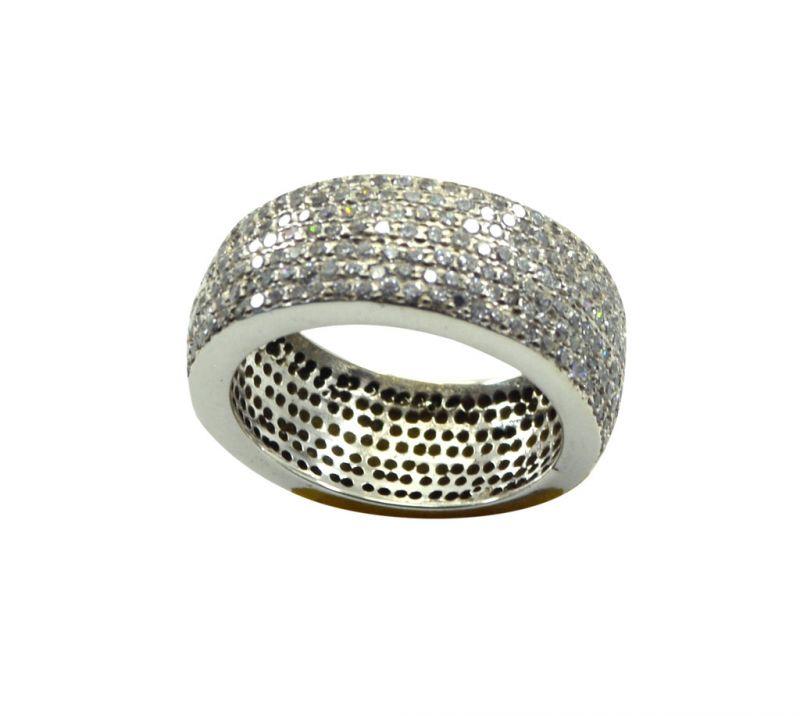 Buy Riyo Cz925 Solid Sterling Silver Detailed Ring Srwhcz75-110026 online