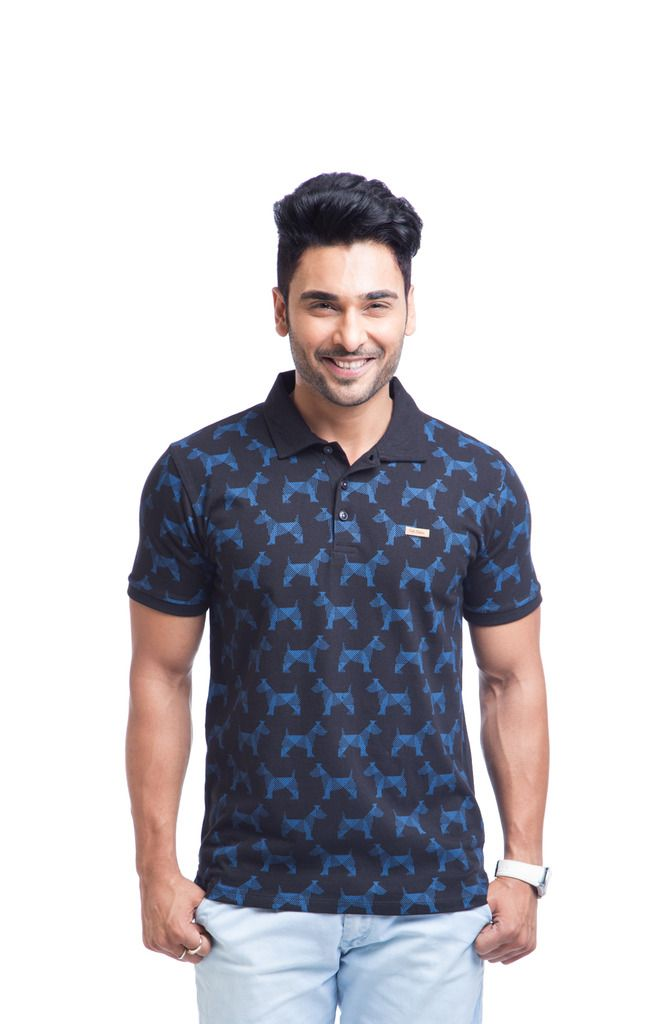 Buy Cult Fiction Cotton Black Printed Men