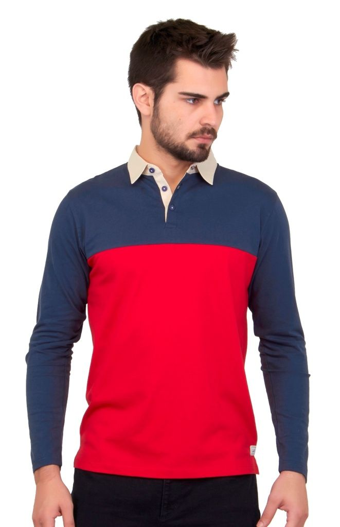 Buy Cult Fiction Solid Red Color Cotton Polo Tshirt online