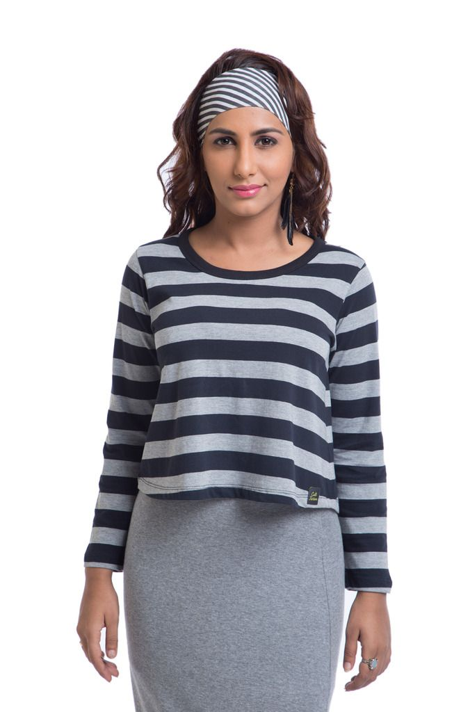 Buy Cult Fiction Cotton Multicolor Striped Women