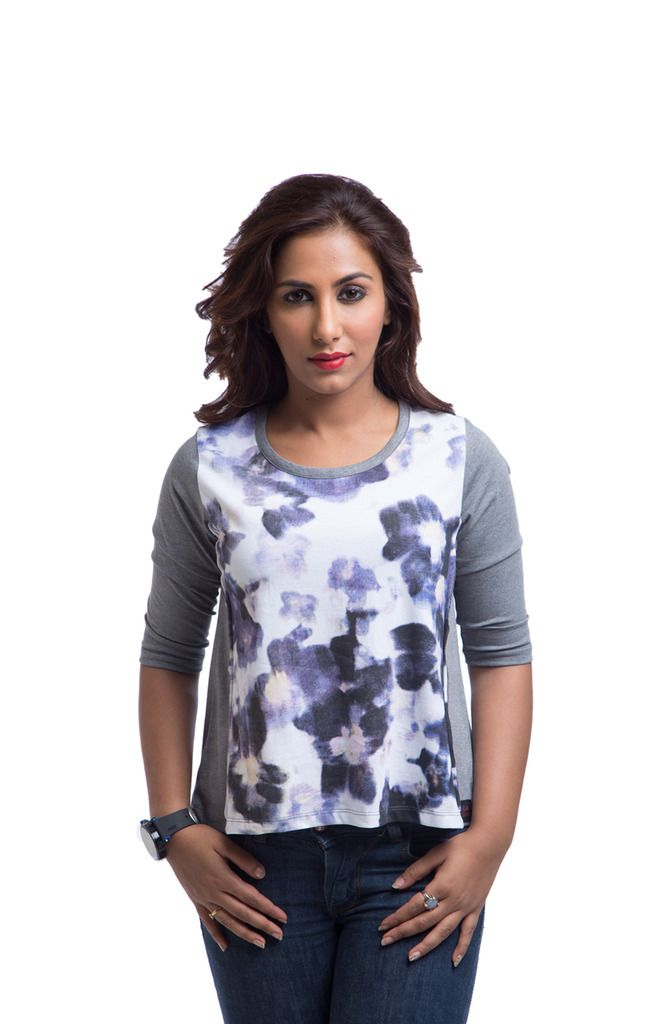 Buy Cult Fiction Cotton Grey Printed Women