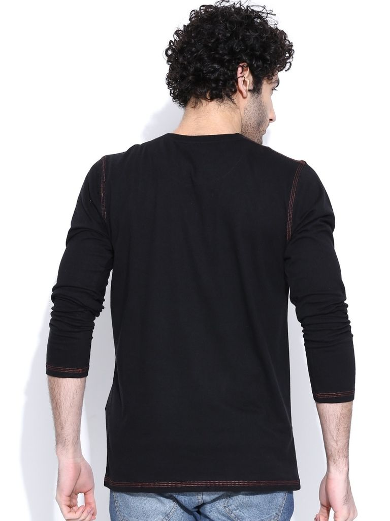 Black t shirt for man - Buy Cult Fiction Round Neck Full Sleeves With Graphic Black T Buy Cult Fiction Round Neck Full Sleeves With Graphic Black T