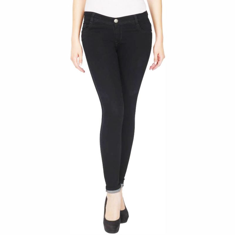Buy Masterly Weft Slim Fit Black Jeans For Women online