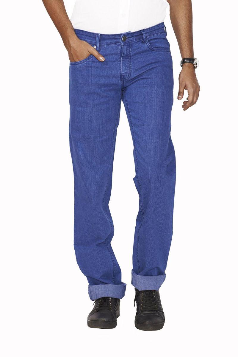 Buy Masterly Weft Blue Cotton Blend Regular Men