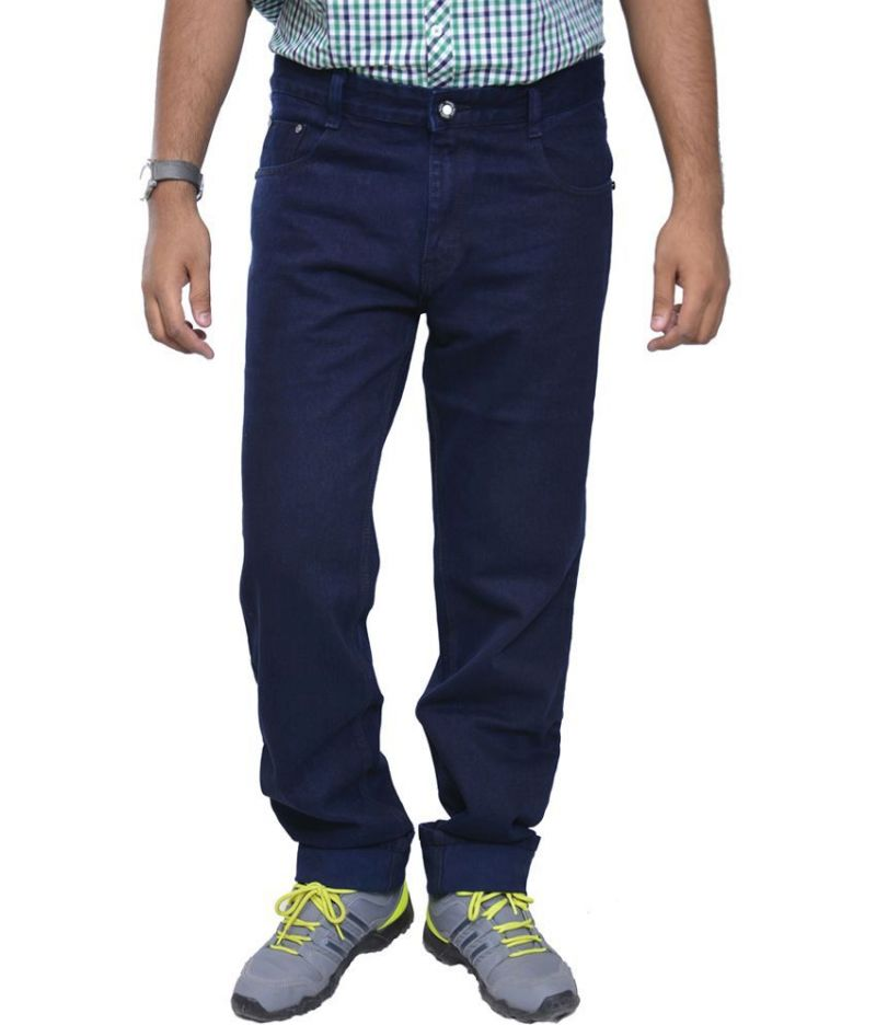 Buy Masterly Weft Trendy Dark Blue Jeans online
