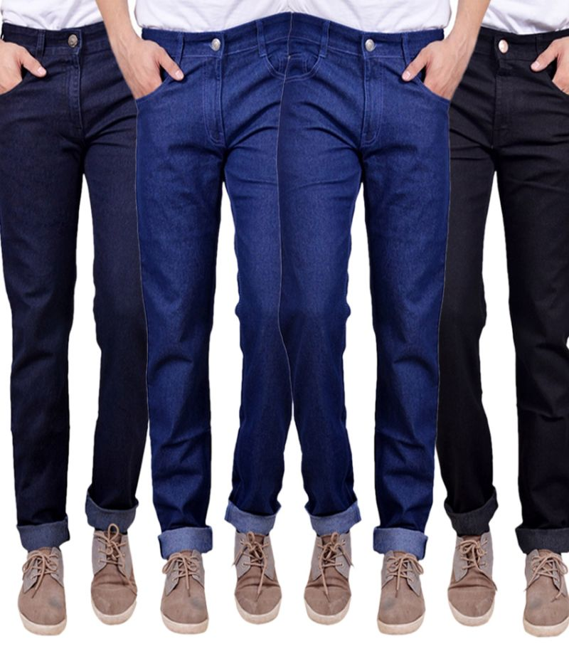 Buy Masterly Weft Trendy  Multicolor   (Pack Of 4) Mens Jeans online