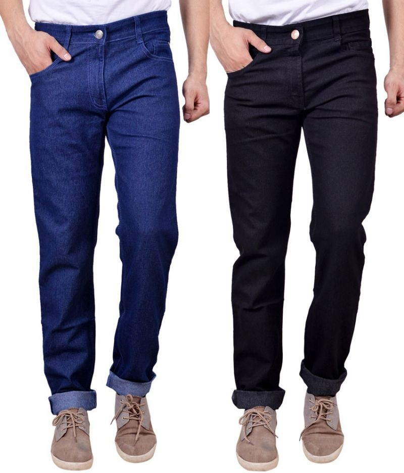 Buy Masterly Weft Awesome Pack Of 2 Mens Cotton Jeans - (code - D-jen-3-1) online