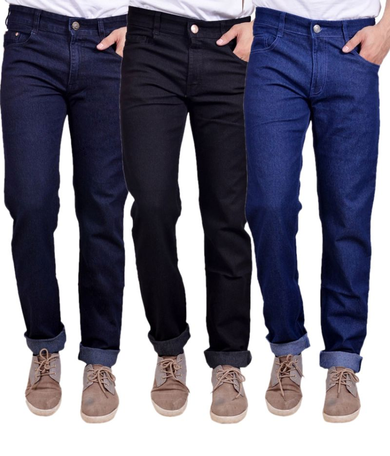 Buy Masterly Weft Trendy Pack Of 3 Mens Cotton Jeans - (code -d-jen-3-2-p) online