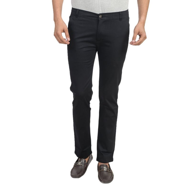 Buy Masterly Weft Be Trendy Black Men's Chinos 100% Cotton For Men online