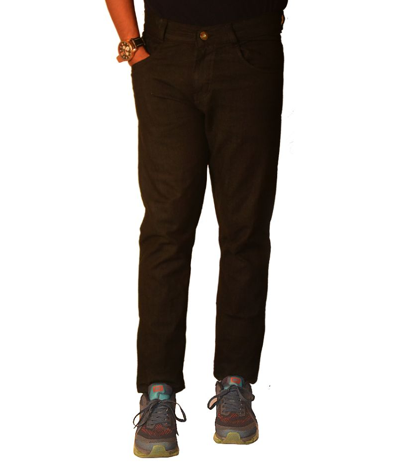Buy Masterly Weft Mens Cotton Regular Non-stretch Black Jeans - (product Code - D-jen2-1) online