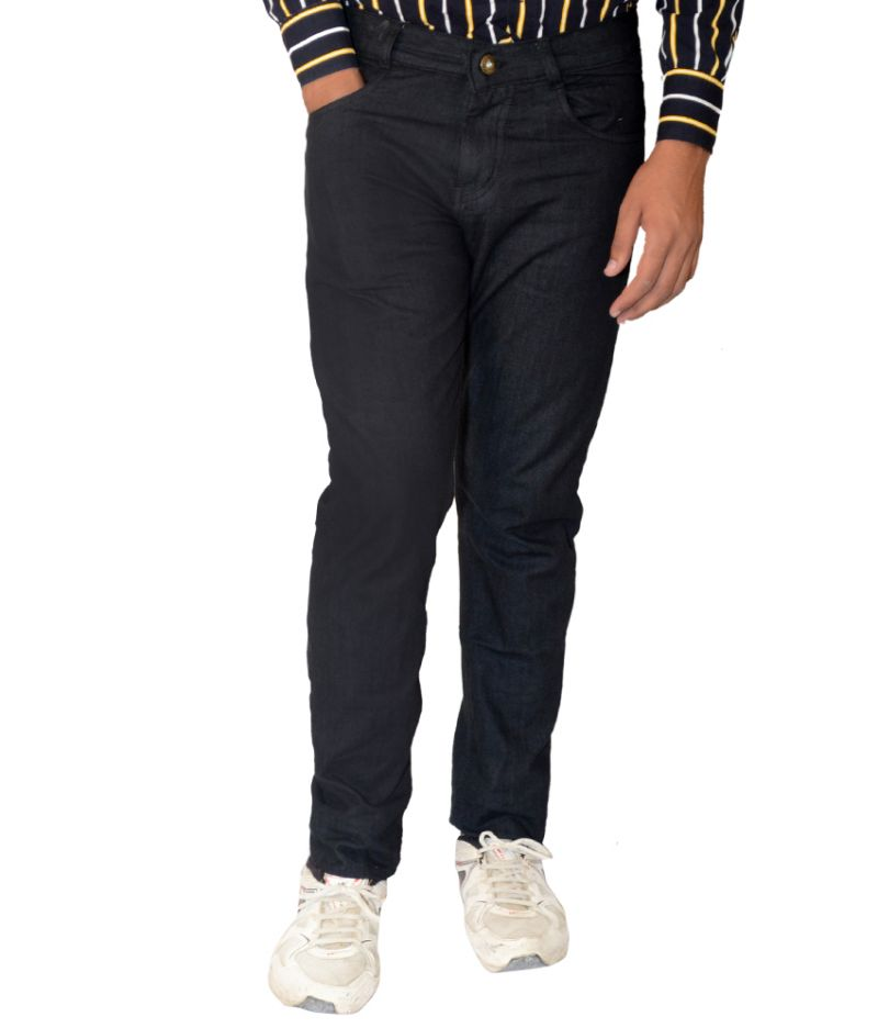 Buy Masterly Weft Mens Cotton Regular Non-stretch Black Jeans - (product Code - D-jen3-1) online