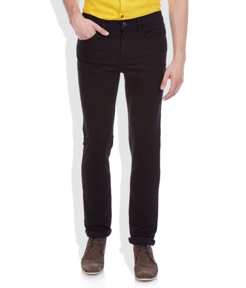 Buy Masterly Weft Black Cotton Blend Men D-jenn-1 online