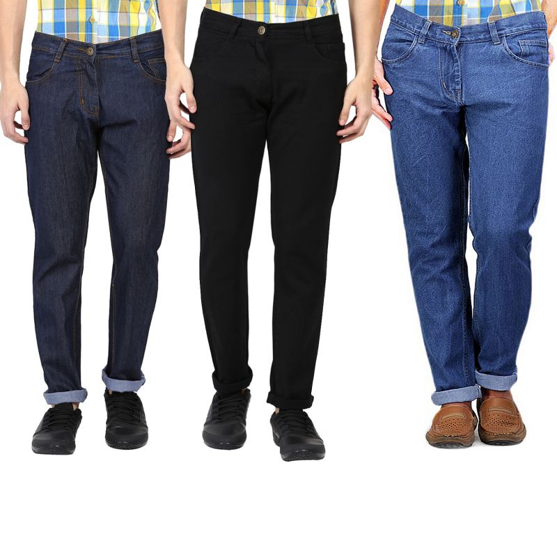 Buy Masterly Weft Be Trendy Men's Jeans Pack Of 3 online