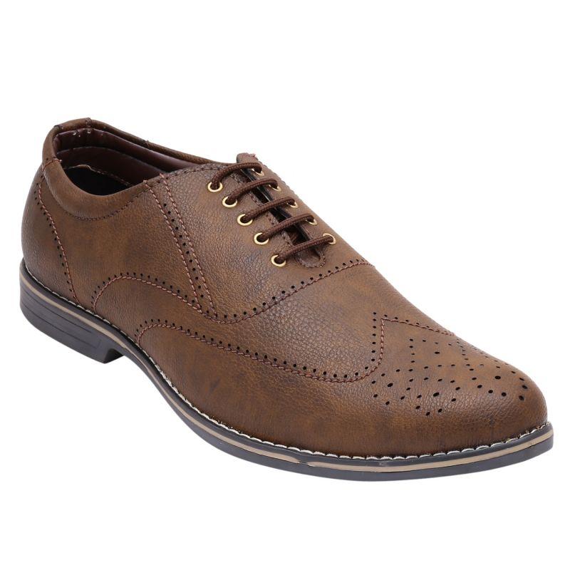 Buy Firemark Brown Formal Shoes For Men (fr-3103-brwn) online
