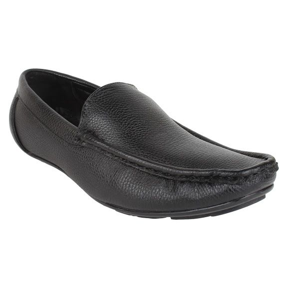 Buy Firemark Mens Artificial Leather Black Slip On Loafers - (product Code - Frical-2121blk) online