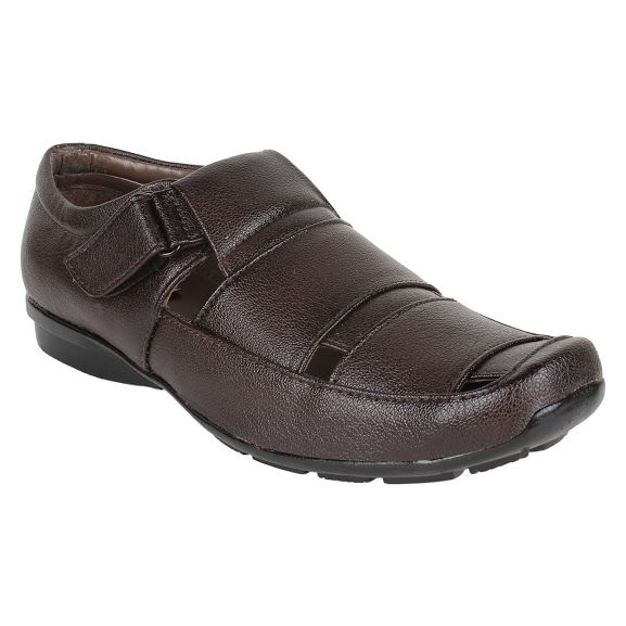Buy Firemark Mens Artificial Leather Brown Slip On Sandals - (product Code - Frical-s-2brwn) online