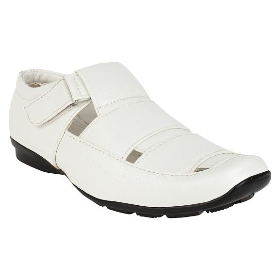 Buy Firemark Mens Artificial Leather White Slip On Sandals - (product Code - Frical-s-2wht) online