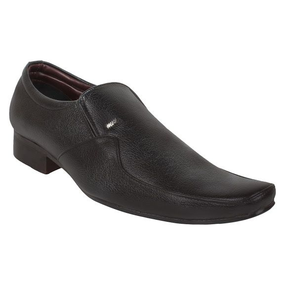 Buy Firemark Mens Artificial Leather Black Slip On Formal Shoes - (product Code - Frical-1701-fr-blk) online