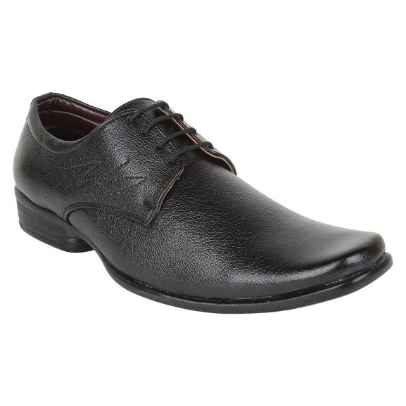 Buy Firemark Mens Artificial Leather Black Laced Formal Shoes online