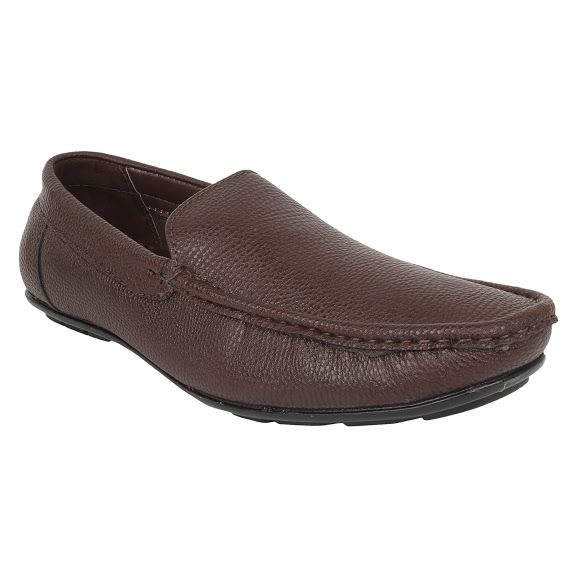Buy Firemark Mens Artificial Leather Brown Slip on Loafers online