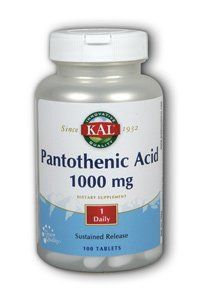 Buy Pantothenic Acid 1000mg Timed Release Kal 100 Tabs online