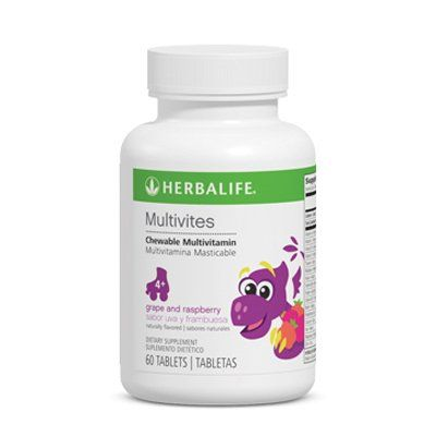 Buy Herbalife Multivites - Fruit Flavored Chewable Multivitamin - Raspberry Grape Flavor - 60 Tablets online